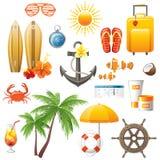 Icone di viaggio illustrazione vettoriale