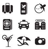 Icone di viaggio Fotografia Stock Libera da Diritti
