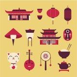Icone di viaggio di Chineese Fotografia Stock Libera da Diritti