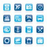 Icone di viaggio e di turismo Immagine Stock