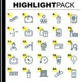 Icone di viaggio messe Raccolta della carta dell'aeroporto, ascensore della scala, assistente di volo And Other Elements Inoltre  illustrazione di stock