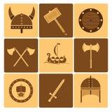 Icone di Viking Fotografia Stock Libera da Diritti