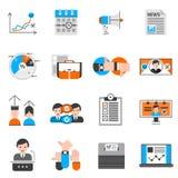 Icone di voto e di elezioni messe illustrazione vettoriale