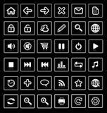 Icone di Web. fotografia stock