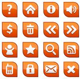 Icone di Web Fotografia Stock