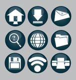 Icone di web Immagini Stock Libere da Diritti