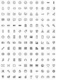 140 icone di web Fotografie Stock Libere da Diritti