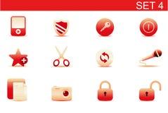 Icone di Web Fotografia Stock Libera da Diritti