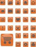 Icone di web arancio Immagine Stock Libera da Diritti