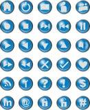 Icone di web blu Fotografia Stock Libera da Diritti