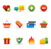 Icone di Web - commercio elettronico illustrazione vettoriale