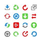 16 icone di web con le frecce. Insieme dell'icona Immagine Stock