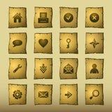 Icone di Web del papiro Immagine Stock
