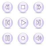 Icone di Web del walkman, serie lucida della perla Immagini Stock Libere da Diritti