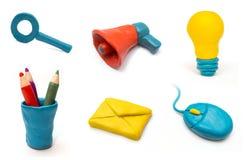 Icone di Web dell'argilla Fotografia Stock