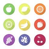 Icone di web della frutta Immagine Stock Libera da Diritti