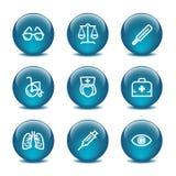 Icone di Web della sfera di vetro, insieme 13 Immagini Stock Libere da Diritti