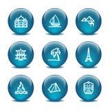 Icone di Web della sfera di vetro, insieme 22 Immagine Stock Libera da Diritti