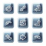 Icone di Web delle frecce illustrazione vettoriale