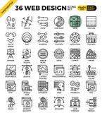 Icone di web design Fotografie Stock Libere da Diritti