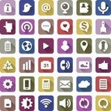 Icone di web design messe Fotografie Stock