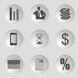 Icone di web di affari Fotografia Stock