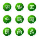 Icone di Web di attività bancarie Immagine Stock Libera da Diritti