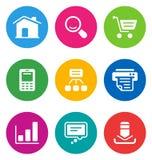 Icone di Web di colore Immagine Stock