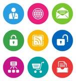 Icone di Web di colore Fotografia Stock Libera da Diritti