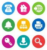 Icone di Web di colore Fotografie Stock