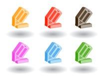 Icone di Web di colore 3d. Illustrazione di vettore Immagine Stock Libera da Diritti