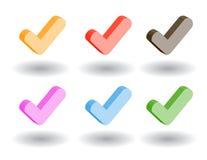 Icone di Web di colore 3d. Illustrazione di vettore Fotografie Stock