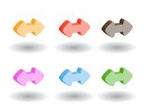 Icone di Web di colore 3d. Illustrazione di vettore Fotografia Stock