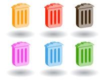 Icone di Web di colore 3d. Illustrazione di vettore Fotografie Stock Libere da Diritti