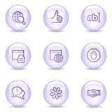 Icone di Web di comunicazione del Internet, serie della perla Fotografia Stock Libera da Diritti