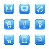 Icone di Web di elettronica Fotografia Stock Libera da Diritti