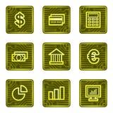 Icone di Web di finanze, serie della scheda di elettronica Fotografie Stock