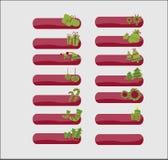 Icone di Web di natale Fotografia Stock Libera da Diritti