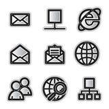 Icone di Web di vettore, Internet d'argento di profilo Fotografie Stock Libere da Diritti