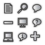 Icone di Web di vettore, profilo d'argento vario Fotografie Stock Libere da Diritti