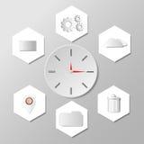 Icone di web e simboli, illustrazione di vettore Fotografie Stock Libere da Diritti