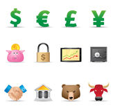 Icone di Web - finanze Fotografia Stock Libera da Diritti