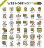 Icone di web hosting illustrazione di stock