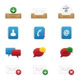 Icone di Web impostate Fotografia Stock