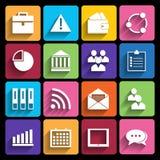 Icone di web messe nella progettazione piana Immagini Stock