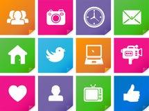 Icone di web nel concetto della metropolitana Fotografia Stock