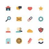 Icone di web piane illustrazione vettoriale