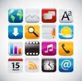 Icone di Web - serie lucida Fotografia Stock