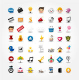 Icone di Web site & del Internet, icone di Web, icone impostate Fotografie Stock Libere da Diritti