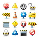Icone di Web - traffico Fotografie Stock Libere da Diritti